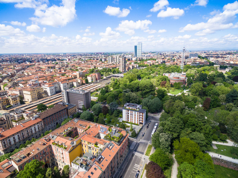 aerial-view-of-sempione-park-in-milan-italy-PTDPET4